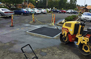 Ямочный ремонт дорожных покрытий